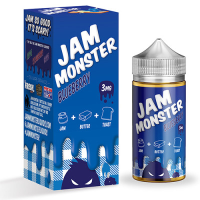 Жидкость Jam Monster - Blueberry 100мл 3мг