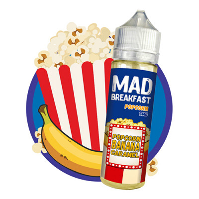 Жидкость Mad Breakfast - Popcorn 60мл 0/1.5/3мг