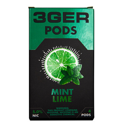 Картриджи для JUUL 3GER Pods - Mint Lime 5%